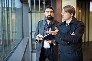 Entrepreneurs brainstorming and discussing strategies