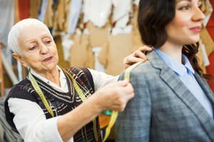Fashionist serving her client in workshop
