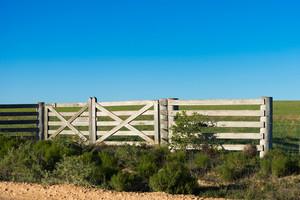 Fence on a rural farm