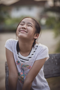 funny face asian teenager