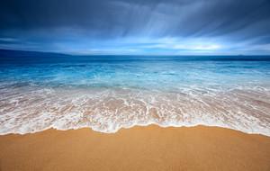 Gorgeous beach at Vina Del Mar, Chile