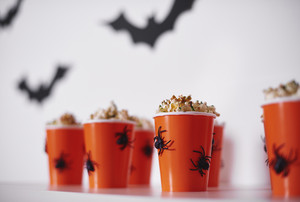 Halloween snack on white background