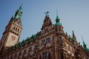 Hamburg sightseeing town hall building, Germany