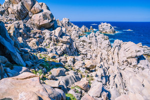 Huge Granite Rocks formations in Capo Testa in north Sardinia, Italy