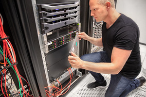 IT engineer working with Server In Datacenter