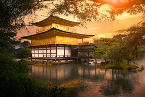 Kinkaku-ji temple ,Temple of the Golden Pavilion kyoto japan one of most popular traveling destination