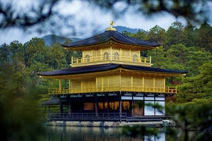 Kinkaku-ji temple ,Temple of the Golden Pavilion kyoto japan one of most popular traveling destination