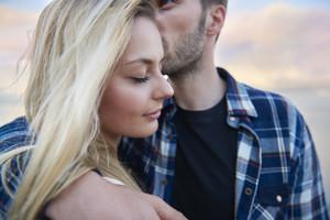 Kiss full of love for my sweetheart