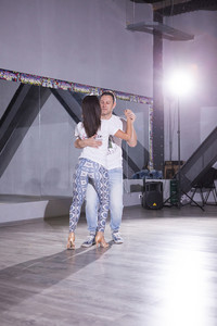 Kizomba state of mind in dancers connection. Indoo dancing class