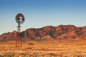 Lone Windmill in the Flinders Ranges
