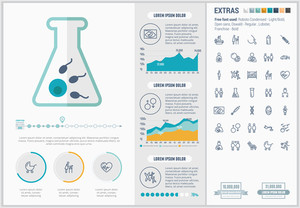 Maternity infographic template and elements. The template includes huge awesome set of thin line icons. Modern minimalistic flat vector design.
