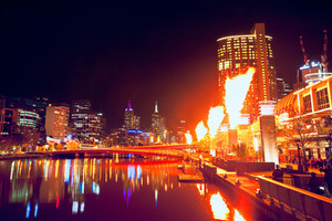 Melbourne CIty Scene at Night