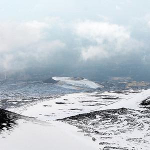 mountain in winter landscape