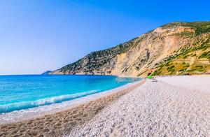 Myrtos Beach on Kefalonia Island, Greece