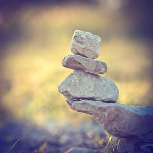 nature. Calm pyramid stones