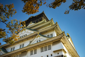 other scene of osaka castle one of most popular traveling destination in osaka japan