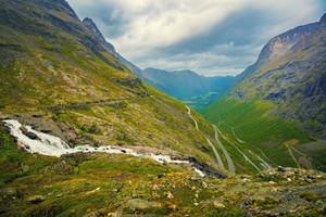 Panoramic view of the Trollstigen, Norway