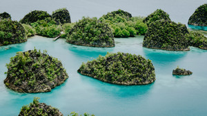 Pianemo Island, Blue Lagoon, Raja Ampat, West Papua, Indonesia