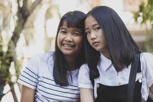 portrait headshot of asian teenager pose like fashion model