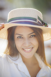 portrait headshot of beautiful asian younger woman toothy smiling face happiness emotion