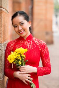 Portrait of a beautiful Vietnamese girl