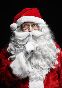 Portrait of santa claus gesturing at studio shot