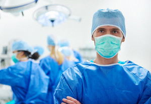 Portrait of surgeon in the operating room