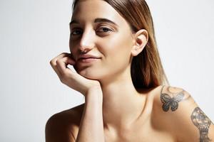 pretty young woman's portrait