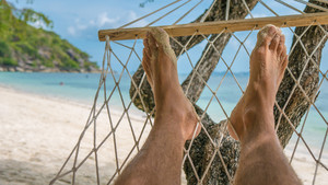 Relax on the Beach in Hammock, Haad Rin , Ko Phangan