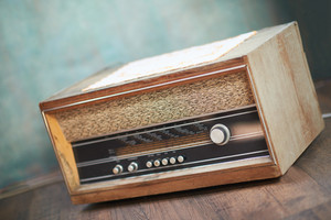retro vintage old music radio