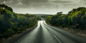 Road in the Yorke Peninsula, South Australia