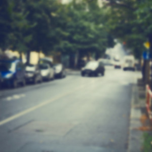 Road vintage blur background. Outdoor