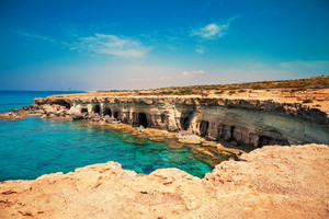 Rocky sea coast in Cyprus