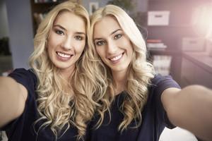 Selfie with loving sisters