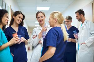 Short break of busy doctors