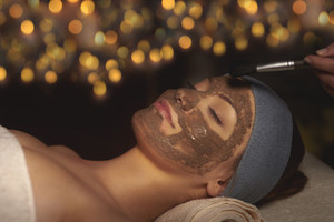 Skin care at health spa