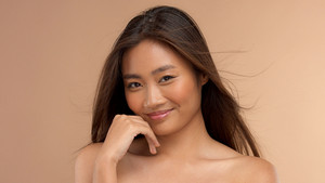 smiling asian thai japanese model