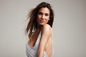 spanish woman's portrait in studio shoot