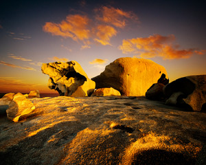 Sunset over Remarkable Rocks, Kangaroo Island