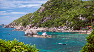 Tanote Bay with Beautiffull Coral Reef, Koh Tao, Thailand