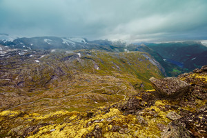 Top view from mountain. Dalsnibba, Norway