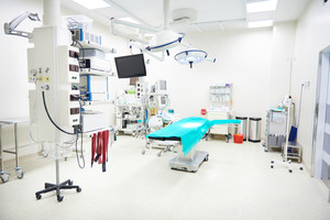 Top view of modern medical room