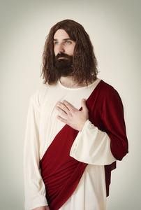 Tranquil scene of Jesus Christ
