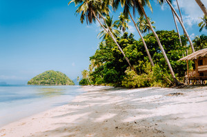Tropical island beach landscape, El-Nido, Palawan, Philippines