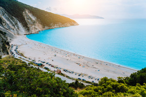 View to Famous Myrtos Beach, Kefalonia, Greece