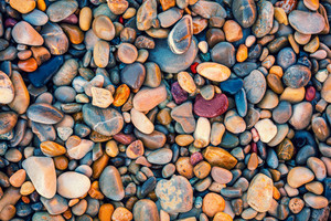 Vintage colorful pebbles background