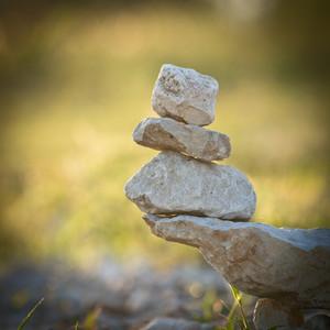vintage construction of stones symbolizes nature harmony