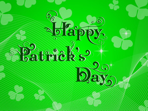 St.patrick Day Greeting With Decorative Text. Vector.