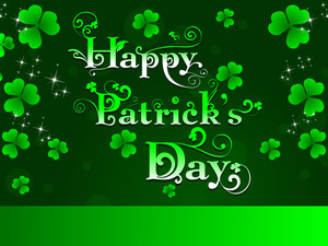 St.patrick Day Greeting With Shamrocks And Decorative Text. Vector