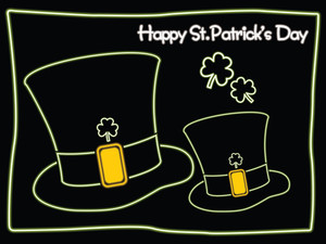 St.patrick's Background With Pair Of Hat 17 March